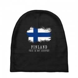 This is my country - Finland Baby Beanies | Artistshot