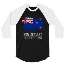 This is my country - New Zealand 3/4 Sleeve Shirt | Artistshot