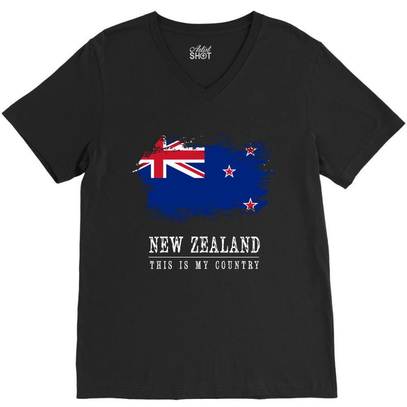 This Is My Country - New Zealand V-neck Tee   Artistshot