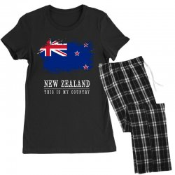 This is my country - New Zealand Women's Pajamas Set | Artistshot