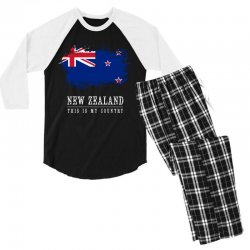 This is my country - New Zealand Men's 3/4 Sleeve Pajama Set | Artistshot