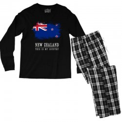 This is my country - New Zealand Men's Long Sleeve Pajama Set | Artistshot