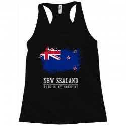 This is my country - New Zealand Racerback Tank | Artistshot