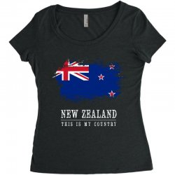 This is my country - New Zealand Women's Triblend Scoop T-shirt | Artistshot