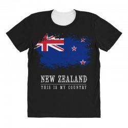 This is my country - New Zealand All Over Women's T-shirt | Artistshot