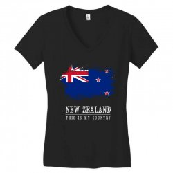 This is my country - New Zealand Women's V-Neck T-Shirt | Artistshot