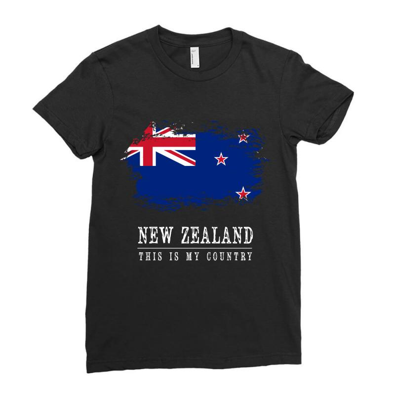 This Is My Country - New Zealand Ladies Fitted T-shirt | Artistshot