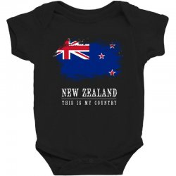 This is my country - New Zealand Baby Bodysuit | Artistshot