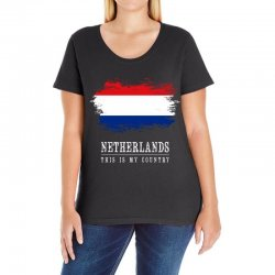 This is my country - Netherlands Ladies Curvy T-Shirt | Artistshot