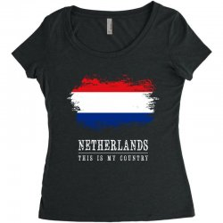 This is my country - Netherlands Women's Triblend Scoop T-shirt | Artistshot