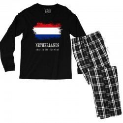 This is my country - Netherlands Men's Long Sleeve Pajama Set | Artistshot