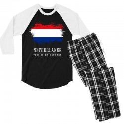 This is my country - Netherlands Men's 3/4 Sleeve Pajama Set | Artistshot