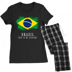 This is my country - Brazil Women's Pajamas Set | Artistshot