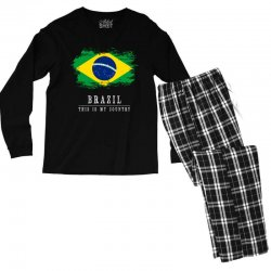 This is my country - Brazil Men's Long Sleeve Pajama Set | Artistshot