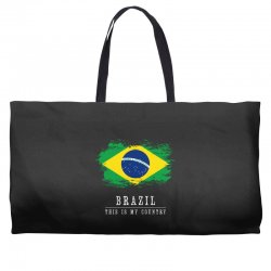 This is my country - Brazil Weekender Totes | Artistshot