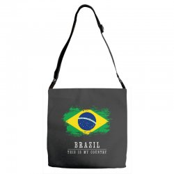 This is my country - Brazil Adjustable Strap Totes | Artistshot