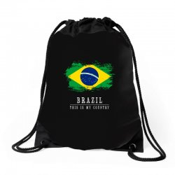 This is my country - Brazil Drawstring Bags | Artistshot