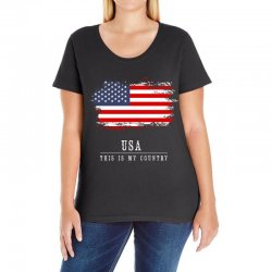 This is my country - USA Ladies Curvy T-Shirt | Artistshot