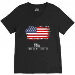 This is my country - USA V-Neck Tee | Artistshot