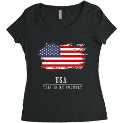 This is my country - USA Women's Triblend Scoop T-shirt | Artistshot