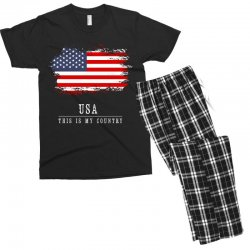 This is my country - USA Men's T-shirt Pajama Set | Artistshot