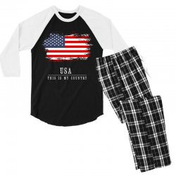 This is my country - USA Men's 3/4 Sleeve Pajama Set | Artistshot