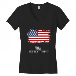 This is my country - USA Women's V-Neck T-Shirt | Artistshot