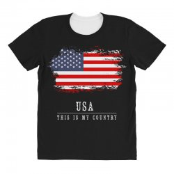 This is my country - USA All Over Women's T-shirt | Artistshot