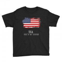 This is my country - USA Youth Tee | Artistshot