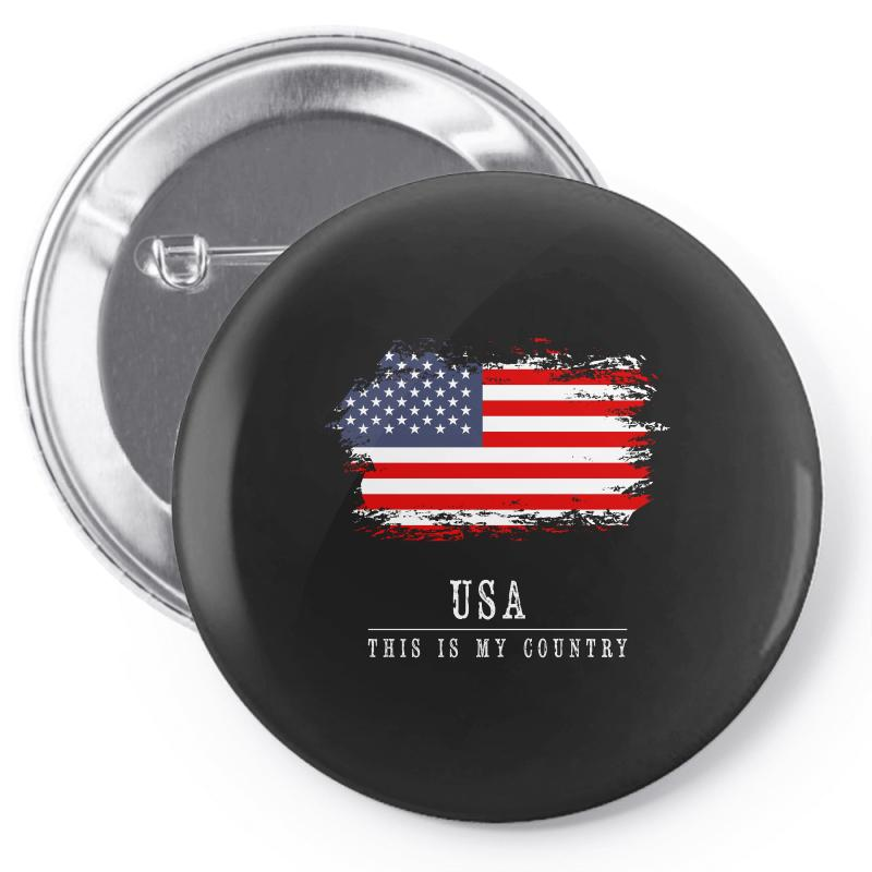 This Is My Country - Usa Pin-back Button   Artistshot
