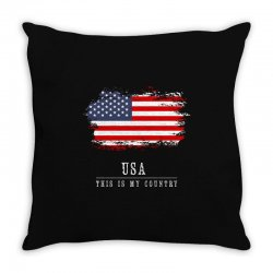 This is my country - USA Throw Pillow   Artistshot