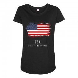 This is my country - USA Maternity Scoop Neck T-shirt | Artistshot