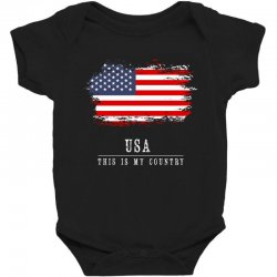This is my country - USA Baby Bodysuit | Artistshot