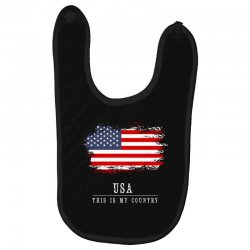 This is my country - USA Baby Bibs | Artistshot