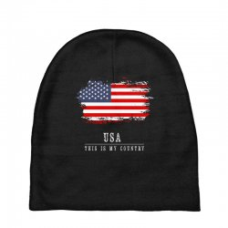 This is my country - USA Baby Beanies | Artistshot