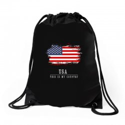 This is my country - USA Drawstring Bags | Artistshot