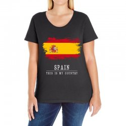 This is my country - Spain Ladies Curvy T-Shirt | Artistshot