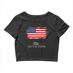 This is my country - USA Crop Top | Artistshot