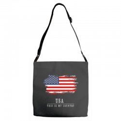 This is my country - USA Adjustable Strap Totes | Artistshot