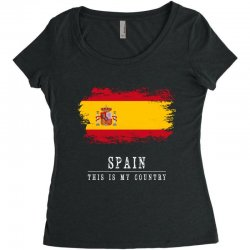 This is my country - Spain Women's Triblend Scoop T-shirt | Artistshot