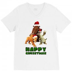 sid manfred diego happy christmas for light V-Neck Tee | Artistshot