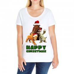 sid manfred diego happy christmas for light Ladies Curvy T-Shirt | Artistshot