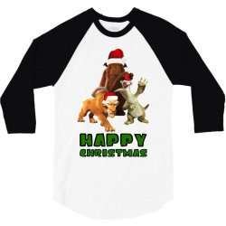 sid manfred diego happy christmas for light 3/4 Sleeve Shirt | Artistshot