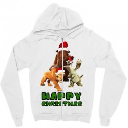 sid manfred diego happy christmas for light Zipper Hoodie | Artistshot