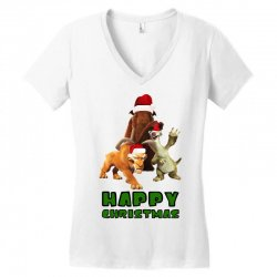 sid manfred diego happy christmas for light Women's V-Neck T-Shirt | Artistshot