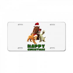 sid manfred diego happy christmas for light License Plate | Artistshot