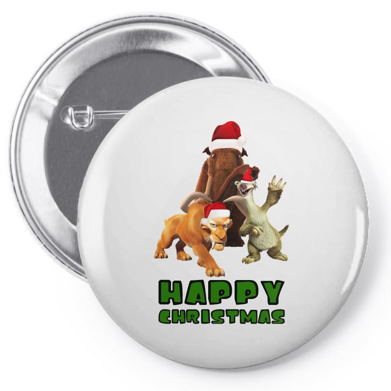 Sid Manfred Diego Happy Christmas For Light Pin-back Button | Artistshot