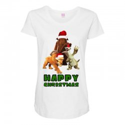 sid manfred diego happy christmas for light Maternity Scoop Neck T-shirt | Artistshot