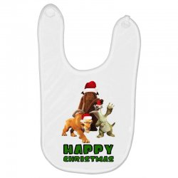 sid manfred diego happy christmas for light Baby Bibs | Artistshot