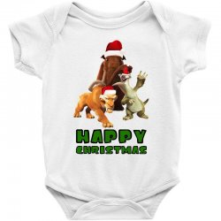 sid manfred diego happy christmas for light Baby Bodysuit | Artistshot